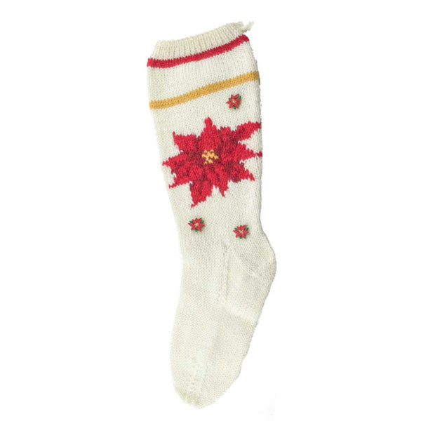 Pointsettia Christmas Stocking Finished
