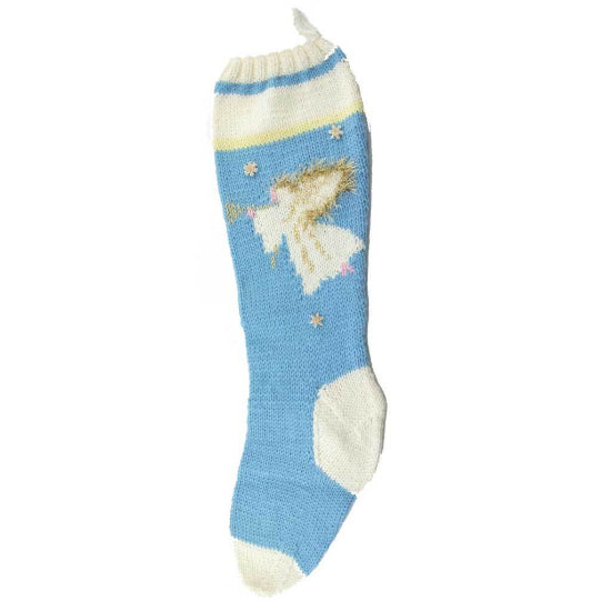 Angel Christmas Stocking Knitting Kit - 7017-B - Blue