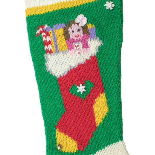 Dolly In A Sock Christmas Stocking Knitting Kit - #7008K