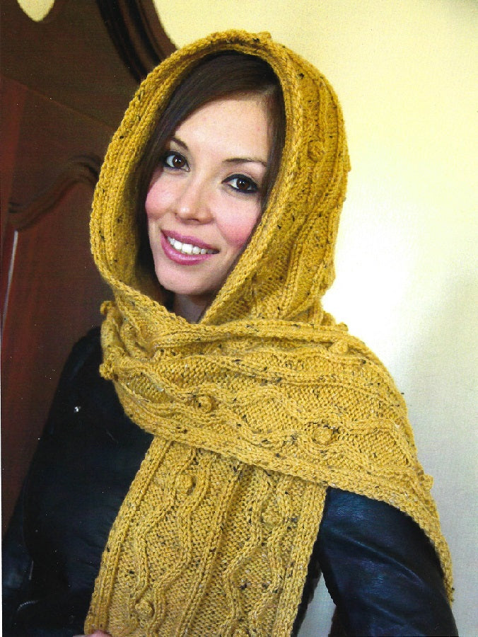 Hooded Scarf Knitting Kit #2867