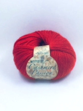 17 Red - Plymouth Cashmere Passion Yarn - 50g