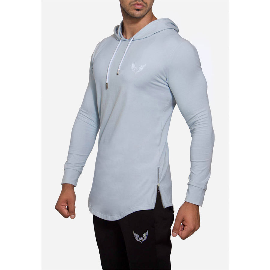 Engineered Esthetics HALO Long Sleeve Muscle Fit Hoodie - Pastel Blue side