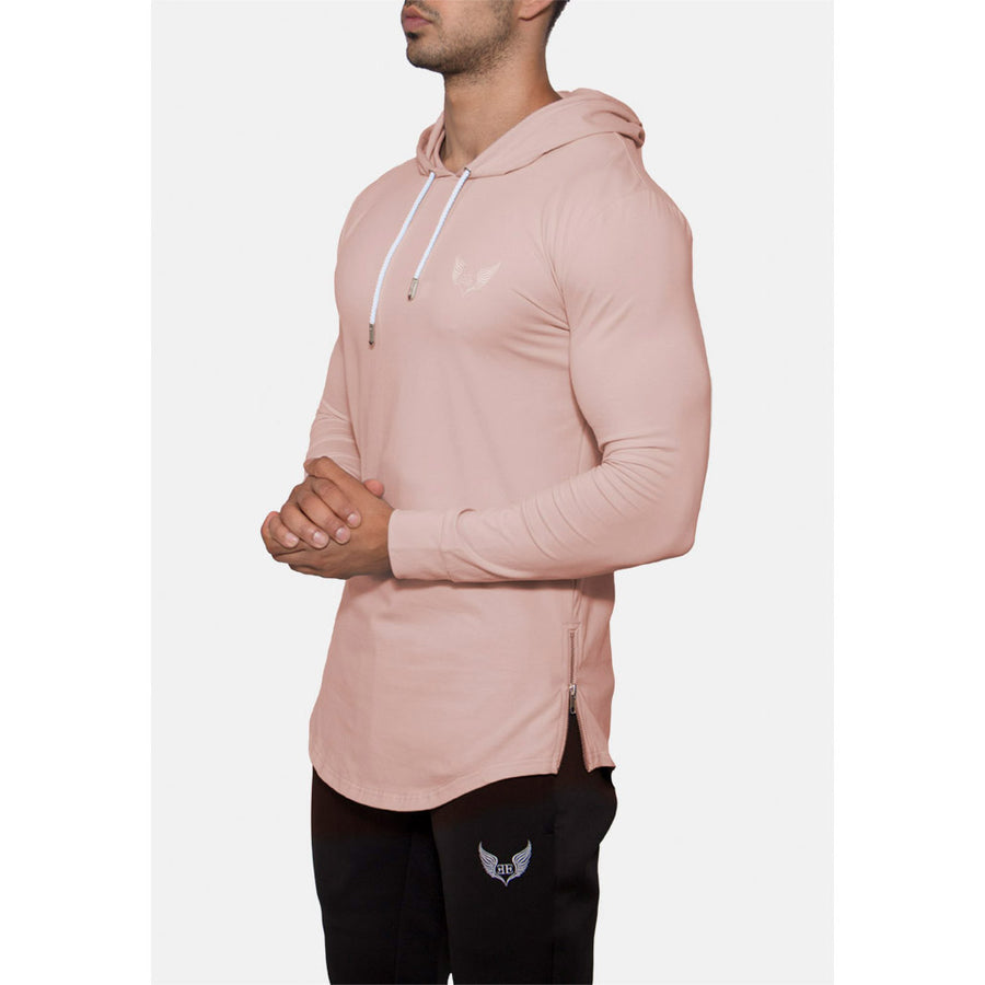 Engineered Esthetics HALO Long Sleeve Muscle Fit Hoodie - Salmon front
