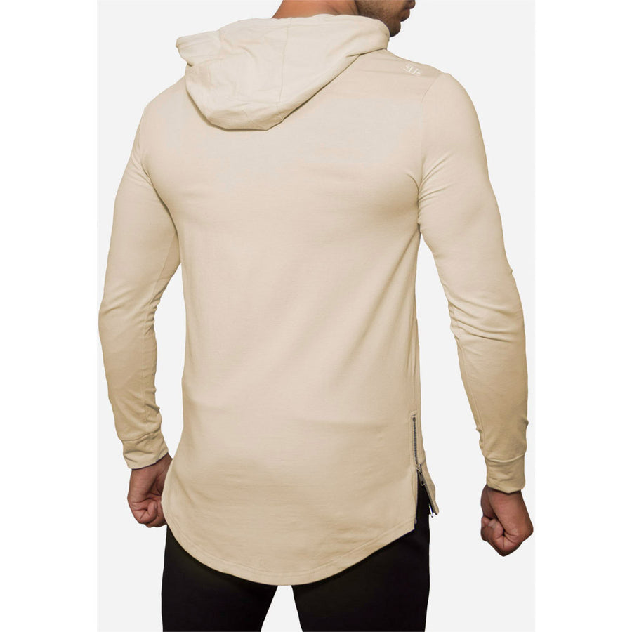 Engineered Esthetics HALO Long Sleeve Muscle Fit Hoodie - Stone front