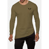 Engineered Esthetics NERO Long Sleeve Muscle Fit T-Shirt - Olive front