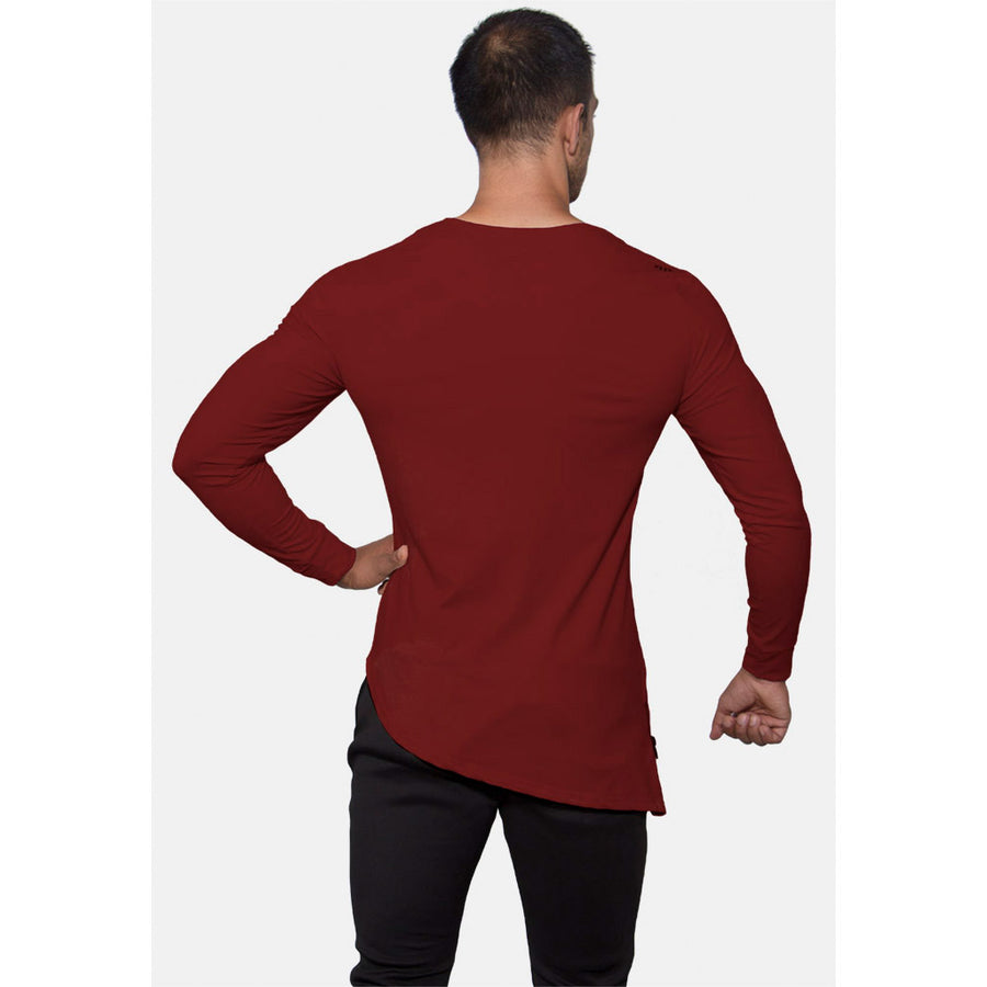 Engineered Esthetics NERO Long Sleeve Muscle Fit T-Shirt - Oxblood front
