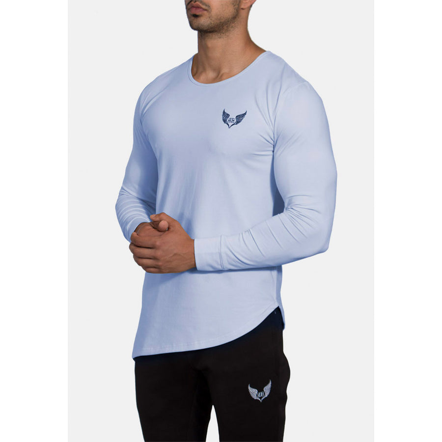 Engineered Esthetics NERO Long Sleeve Muscle Fit T-Shirt - Pastel Blue front