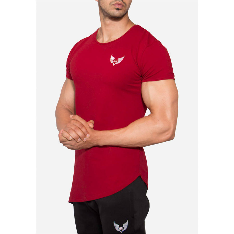 Engineered Esthetics NXUS Short Sleeve Muscle Fit T-Shirt - Maroon front