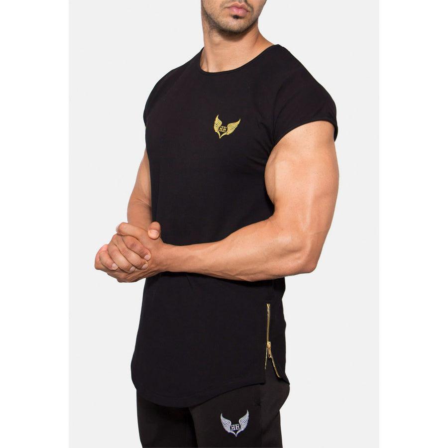 Engineered Esthetics RYDR Capped Sleeve Muscle Fit T-Shirt - Black front