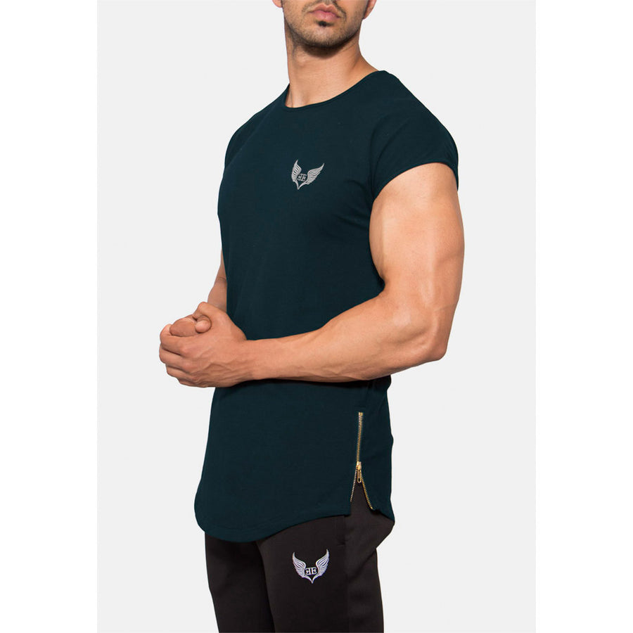 Engineered Esthetics RYDR Capped Sleeve Muscle Fit T-Shirt - Forest Green front
