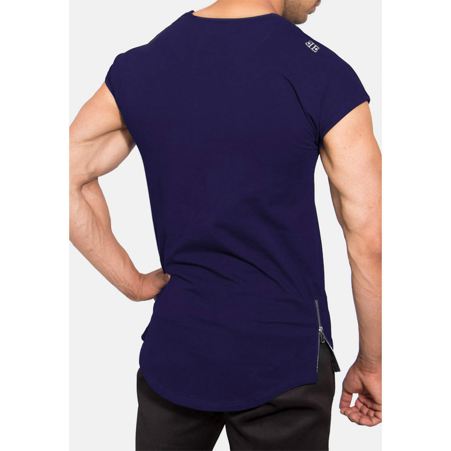 Engineered Esthetics RYDR Capped Sleeve Muscle Fit T-Shirt - Navy front