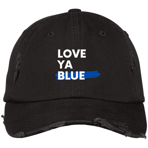 Love Ya Blue -  Distressed Cap