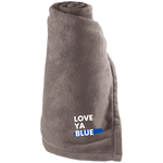 Love Ya Blue - Large Fleece Blanket