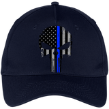 Blue Line Punisher -  Five Panel Twill Cap