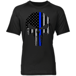 Blue Line Punisher -  Wicking Shirt