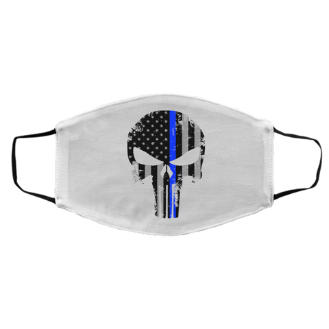 Blue Line Punisher -  Med/Lg Face Mask