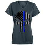 Blue Line Punisher -  Ladies' Wicking T-Shirt