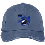 Back the Blue Warrior - Distressed Cap