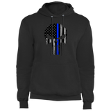 Blue Line Punisher -  Core Fleece Pullover Hoodie
