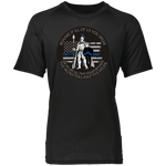Blue Line Spartan  -  Raglan Sleeve Wicking Shirt