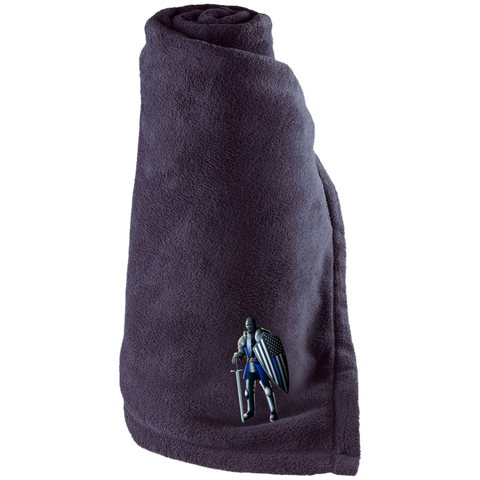 Blue Line Knight -  Large Fleece Blanket