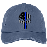 Blue Line Punisher -  Distressed Cap