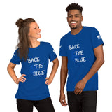 Back the Blue Badge - Short-Sleeve Unisex T-Shirt