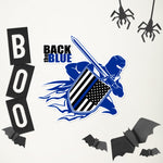 Back the Blue Warrior - Bubble-free stickers
