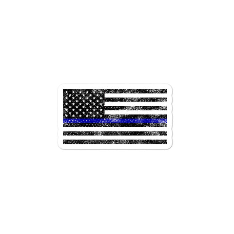 Blue Line Flag - Bubble-free stickers