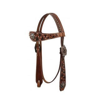 PFR12830 Showman ® Vintage Style Headstall with Raised Cross Conchos