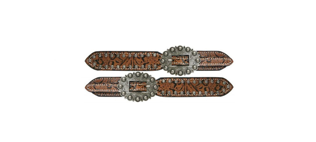 PFR175503 Showman™  Ladies Belt Style Spur Straps with Filigree Print