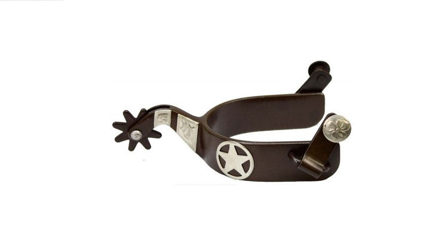 PFR258887 Showman™ Ladies Brown Steel Silver Show Spur With Texas Star