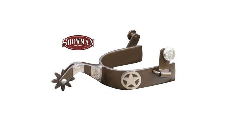 "PFR259028 Men's Showman ® Brown steel spur with 1"" band and 2.25"" shank"