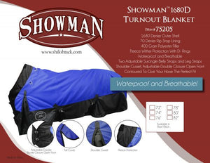 PFR75205 The Waterproof and Breathable Showman™  1680 Denier Turnout Blanket