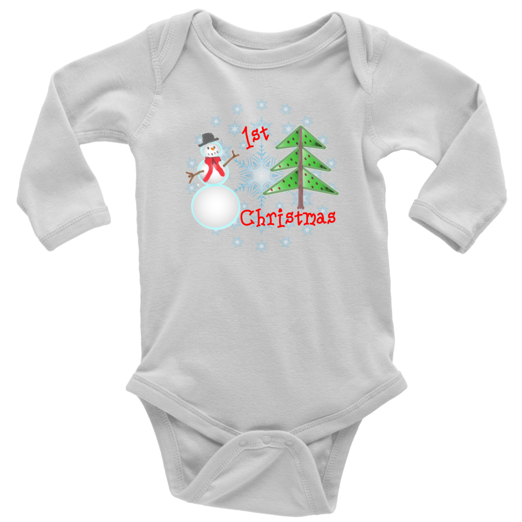 1st Christmas Short/long sleeved bodysuit, Infant T-shirt
