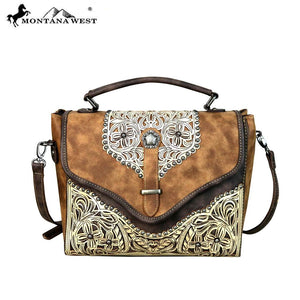 PFRMW604-8662 Montana West Concho Collection Top Handle Crossbody