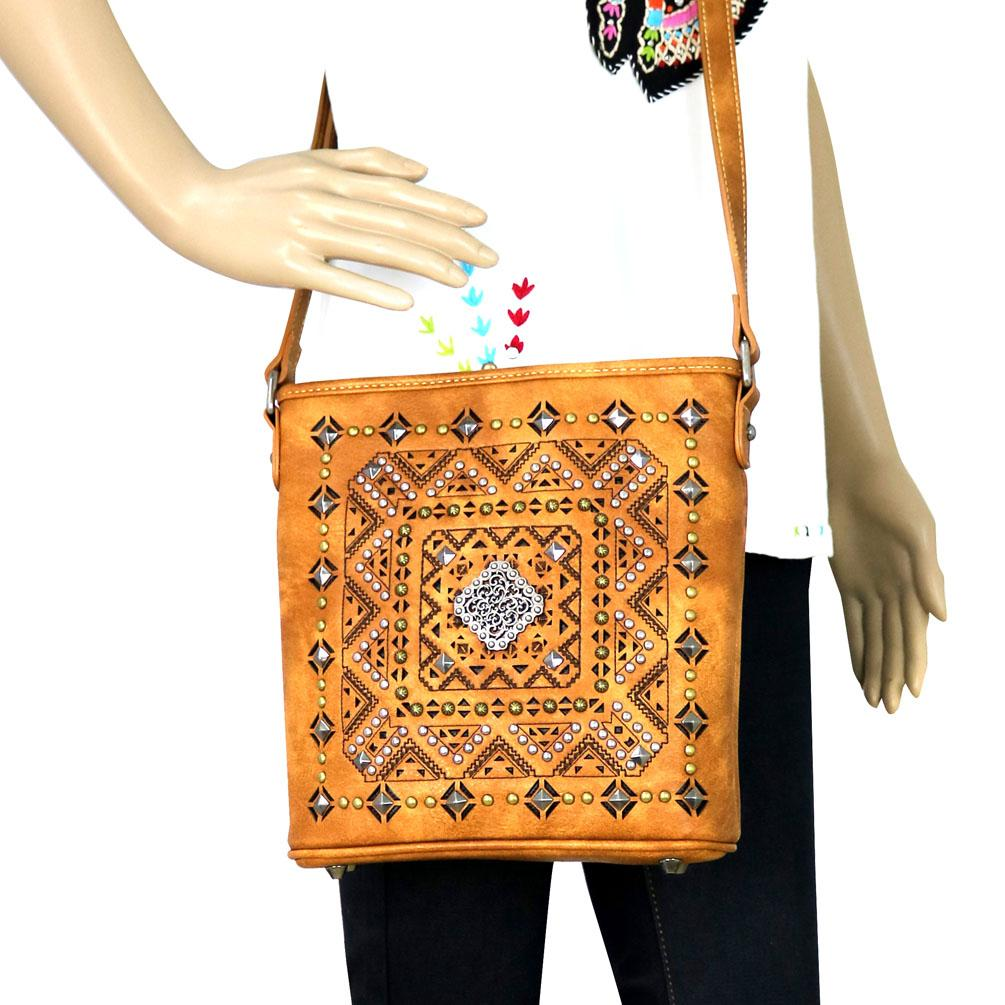 MW642-8360 Montana West Concho Collection Cross body