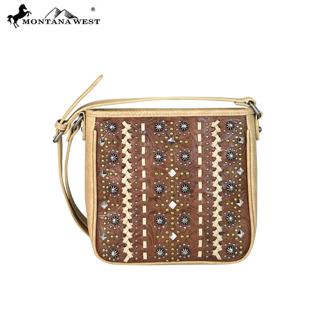 MW662-8360 Montana West Embossed Collection Crossbody