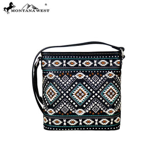 MW709-8360 Montana West Aztec Collection Cross body Bag