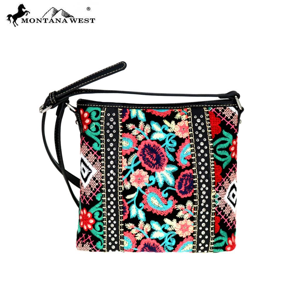 MW714-8360 Montana West Embroidered Collection Cross body