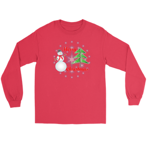 Snowman Unisex Short/long sleeved T's, Crew neck sweatshirt