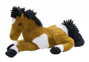 "PFRL-21097 13"" Laying horse Plush Doll with Sound Effects"