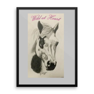 """Wild at Heart"" Framed poster"