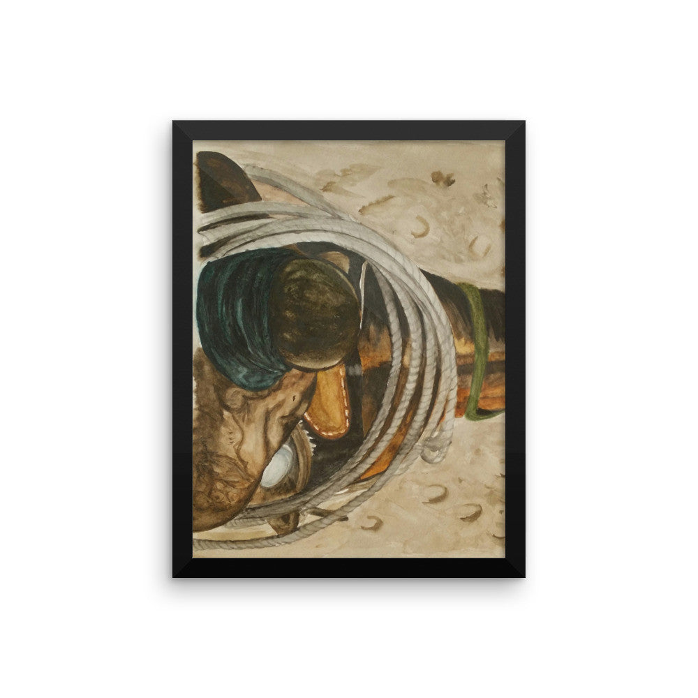 Saddle Horn Framed poster