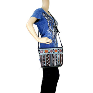 MW469-8287 Montana West Aztec Collection Cross body