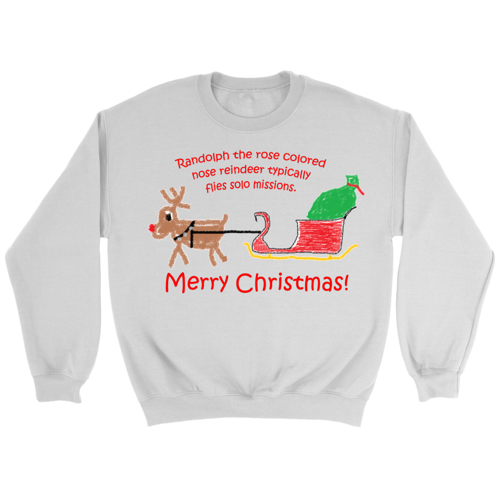Randolph the Reindeer Crew neck Sweatshirt