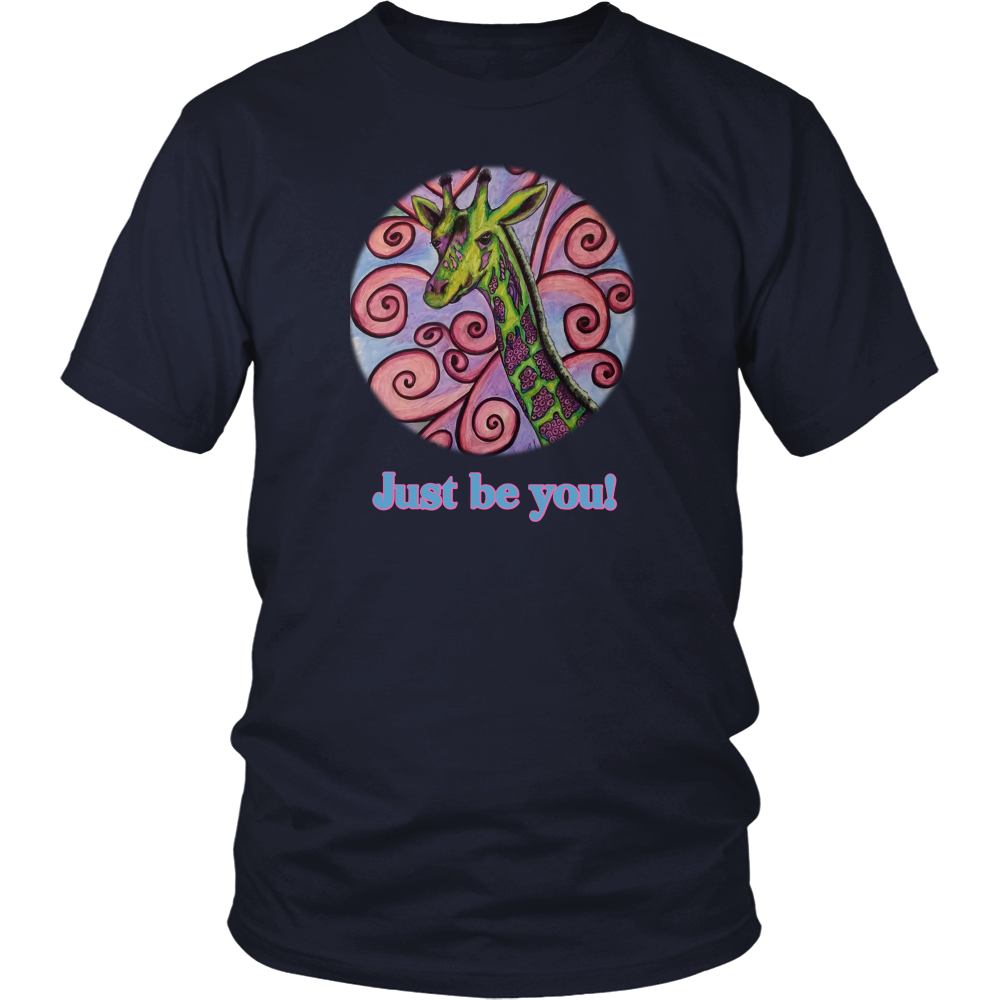 """Just be you"" District Unisex Shirt"