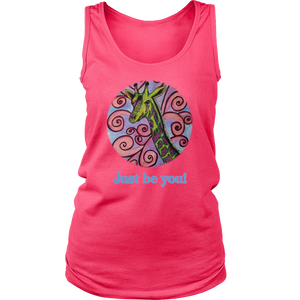 """Just be you"" District Women's Tank"