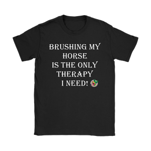 Brushing My Horse Women's T-Shirt