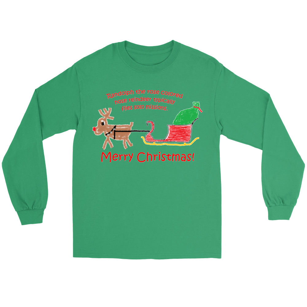 Randolph the Reindeer Gildan Long Sleeve Tee